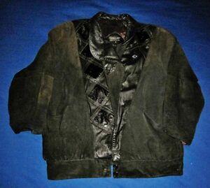 PELLE-New-York-Milano-Suede-amp-Leather-Jacket-Women-039-s-Size-Medium-Black