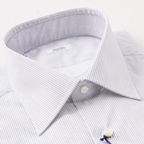 75 y de en Napoli con Nwt Camisa X lápiz vestir 15 350 algodón de rayas negro blanco a Barba 36 nRRqxST