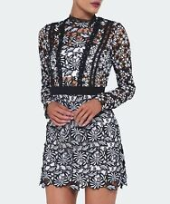 Self-Portrait Antoinette Crocheted lace Dress Mini Brand New BNWT UK 10 IT 42