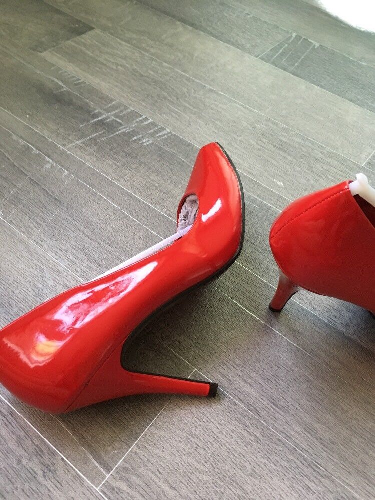 �Lackleder 38 Damen Lederschuhe ❤️ Gr 38 �Lackleder Farbe Rot Von Stradivarius 7c691a