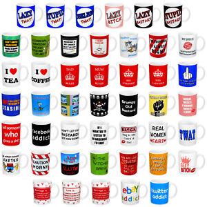 Selection of Rude, Cheeky & Novelty Tea/Coffee Ceramic Mugs