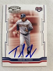 2005 Throwback Threads Terrmel Sledge #215 Auto Signed Autograph Nationals