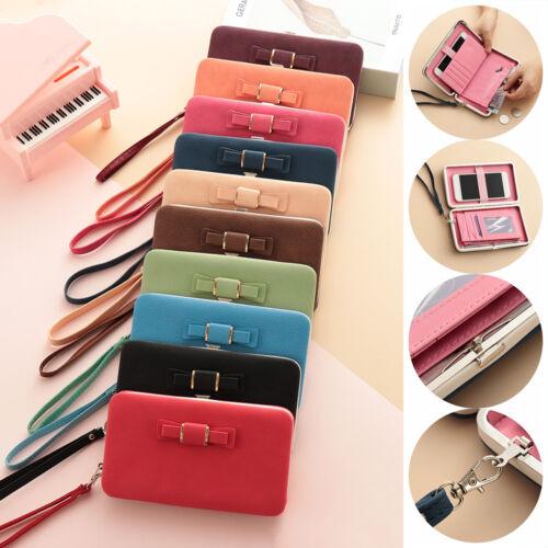 Women Wallet PU Leather Clutch Card Holder Cellphone Pocket Money Bag Coin Purse