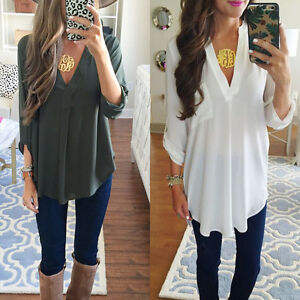 Women-Casual-Long-Sleeve-Tops-Shirt-Ladies-Loose-T-shirt-Blouse-Tee-Top