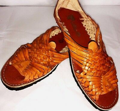 b9527db3f3e06 5 de Mayo Traditional Mexican Huarache sandal leather open toe handmade  pachuco | eBay