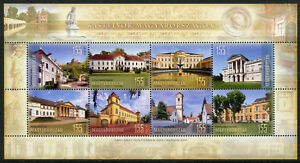 Hungary-2018-MNH-Castles-in-Hungary-8v-M-S-Tourism-Castle-Architecture-Stamps