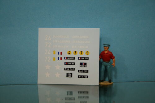 DEC119 DECALCOMANIE POUR DODGE COMMAND CAR MILITAIRE DINKY TOYS REF 810