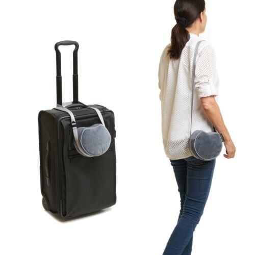 Grey Travelrest I-Lene Pillow Head Rest Repackaged Comfort Travel Memory Foam