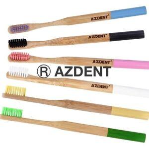 Azdent-100-Naturale-Bamboo-Spazzolino-da-denti-VEGAN-Eco-Friendly-Biodegradabile-BPA-libero