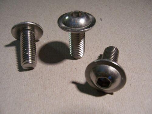 V2A rostfrei Linsenflanschkopfschrauben ISO 7380-2 M5x16 25St
