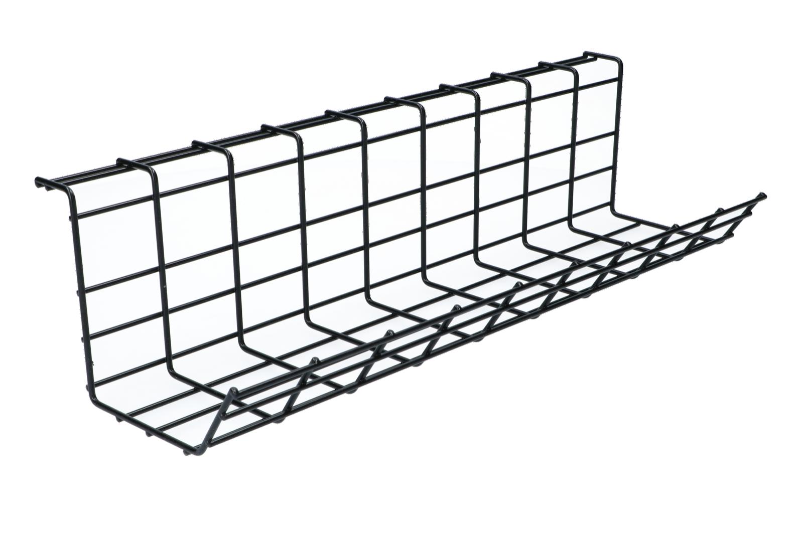 UNDER DESK CABLE ORGANIZER TRAY WIRE MANAGEMENT DESK CABLE RACK - BLACK