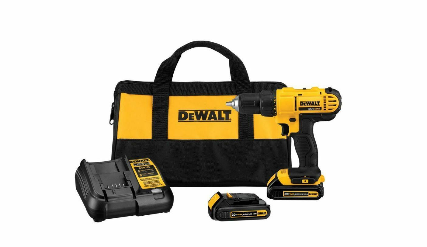New 20-Volt Max Lithium-Ion 1/2 in. Cordless Drill/Driver Kit With Bag