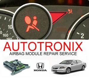 All honda acura airbag module reset service srs restraint for South motors honda service