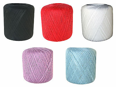 Mercerised Crochet Cotton Embroidery Thread Ball - Approx 400 yards