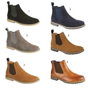 Homme-Desert-boots-en-daim-synthetique-Chelsea-Dealer-Cheville-Chaussures-Taille-UK-7-8-9-10-11-12