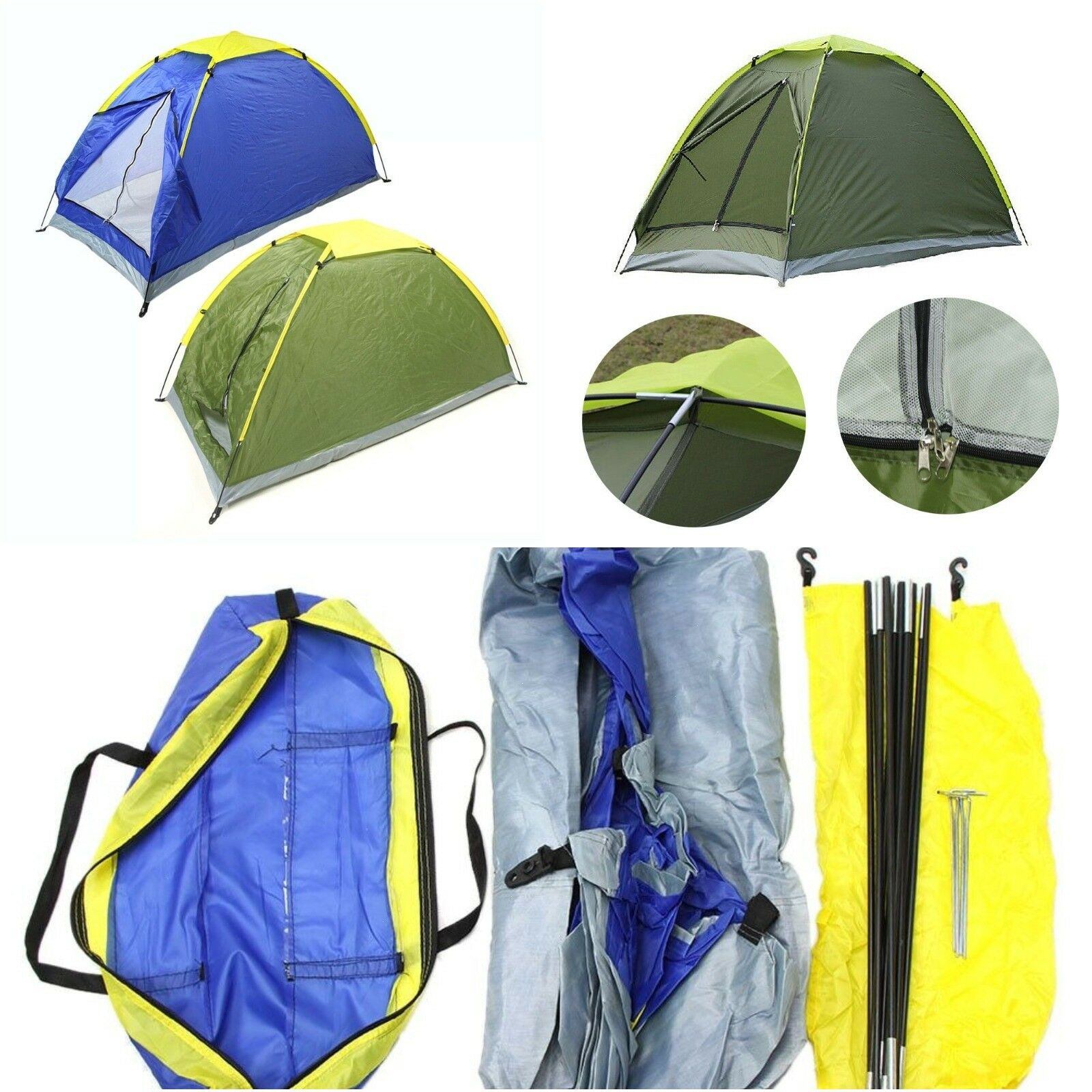 Two Person Tent Outdoor Camping Tent Beach Tent Kit Single Layer Fishing Tent wi