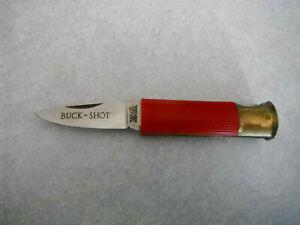 Vintage Shot Gun Shell Bullet Shaped BUCK SHOT POCKET KNIFE Valor Japan 403