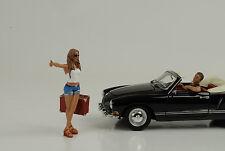 Anhalter Set Hitchhiker Figur Figuren 1:24 Figures American Diorama  / no car