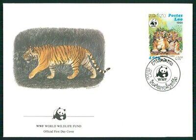 Laos Schmuck-fdc 1984 Wwf Fauna Tiere Animals Tiger Tigre El79 Wir Haben Lob Von Kunden Gewonnen