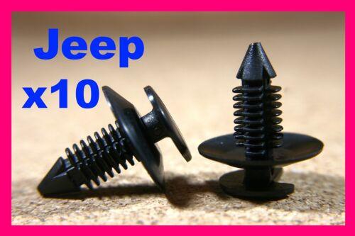 Pour Jeep 10 porte carte Fascia Bump Strip trim panel cover Doublure Fastener Clips
