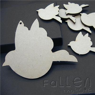 Formas de madera Tragar Pájaro Madera Mdf Calados Adornos Artesanía etiquetas espacios en blanco