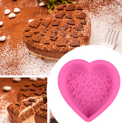 Birthday Cake Mould Big Heart Shaped Silicone Cake Mold Baking Tools for Cakes