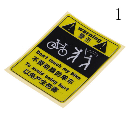 DONT TOUCH MY BIKE Bicycle Decorative Warning Sticker Waterproof Decal Yellow CO