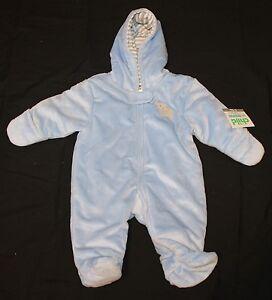 7eaa19475 Carter's Child of Mine Baby Boy Hooded Pram Blue Elephant 0-3, 3-6 ...