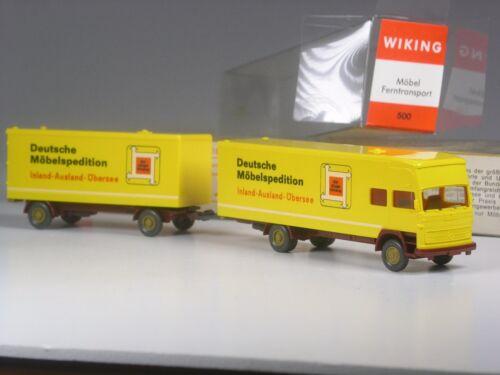 TOP Wiking Nr 500 MB 1620 Koffer Lastzug DMS Möbel Spedition in OVP