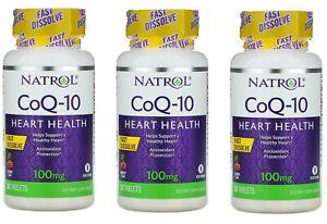 Natrol CoQ-10 Fast Dissolve Cherry Flavor 100mg 90 Tablets,Q-10 heart health