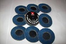 120 Grit Neiko Roloc Type 2-Inch Flap Disc Zirconia 10 Pieces