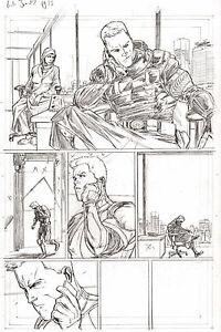 G.I. Joe #7 pg 13 MAD MONK Pencil Art STEVE KURTH IDW 11 x 17