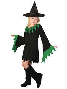 Caricamento dell immagine in corso Ragazze-Strega-amp-Cappello-Costume -Streghe-Costume-Halloween- 4eba50a32985
