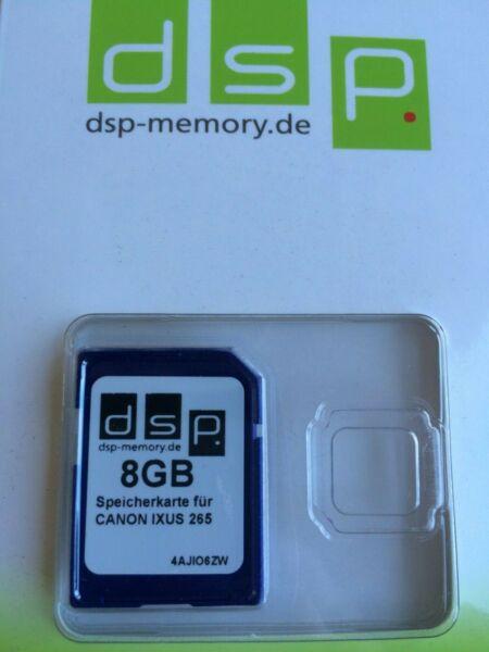 Dsp Carte Mémoire Canon Ixus 265 8 Go