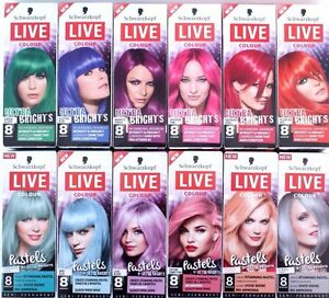 Schwarzkoft Live Colour ULTRA BRIGHTS Pastel Metallics Temporary ...