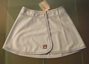 Détails sur Jupe Tennis Fila Blanc Ligne Vintage 80s Neuf avec Étiquette