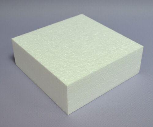 Styropor 1 Platte 30x30x10cm Schaumstoff Bastelmaterial Geschenkidee quadratisch