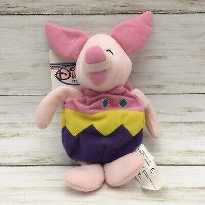 The Disney Store Winnie the Pooh Easter Egg Piglet Bean Bag-Beanie