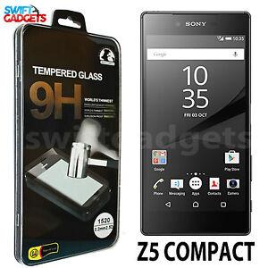 100-autentico-in-vetro-temperato-Pellicola-Screen-Protector-per-Sony-Xperia-Z5-COMPACT