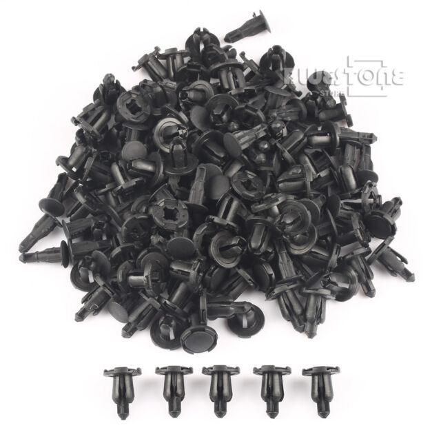 100 x Auto Car Parts Panel Trim Clips 8.5mm Hole Plastic Rivet Fastener Black