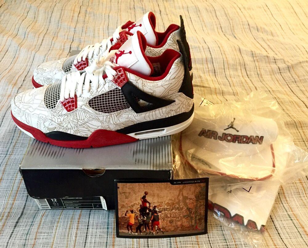 DS Nike Air Jordan 4 12 Laser Fire rouge blanc DB Bred III OG Cement XI 11 IV Lot
