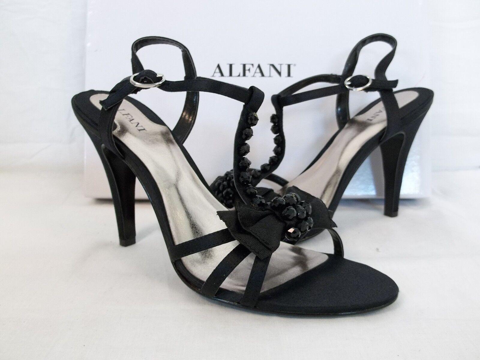 Alfani Size 7 M LaLa Black Open Toe Heels New Womens Shoes