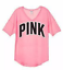 Victoria/'s Secret PINK Washed Boyfriend Jersey and Ultimate Comfy Tight Outfit