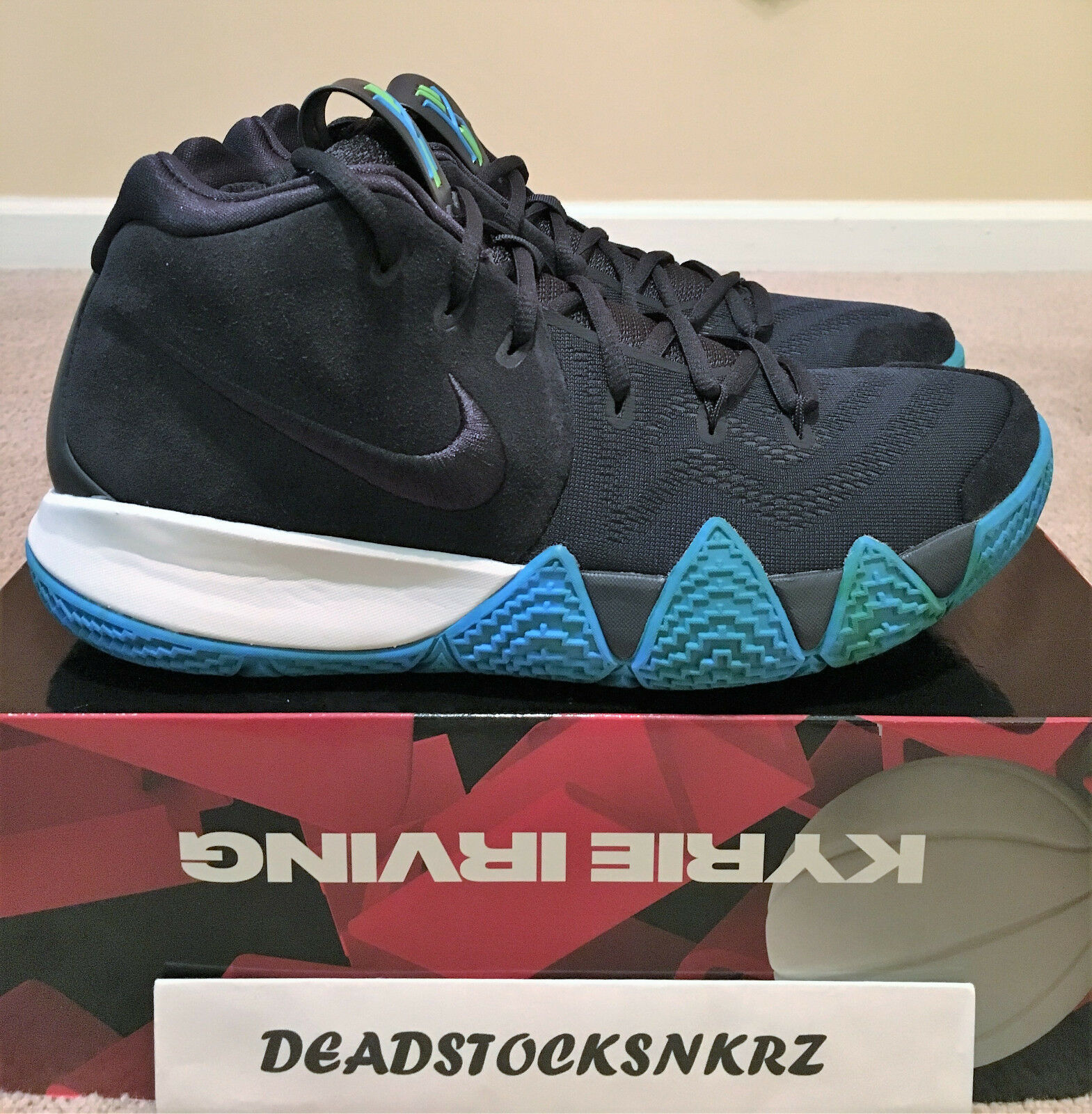 Nike Kyrie 4 Dark Obsidian 943806 401 Men's Sizes 9.5-10