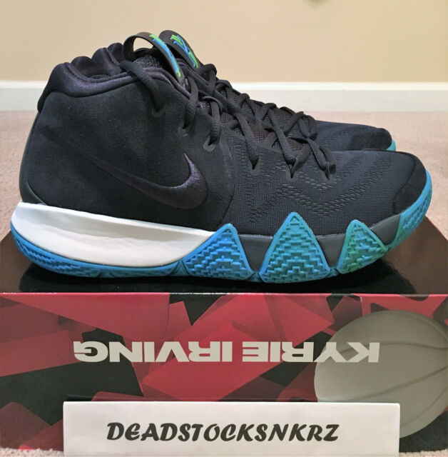 new concept d982a 1c58c Nike Kyrie 4 Mens 943806-401 Dark Obsidian Irving Basketball Shoes Size 10.5