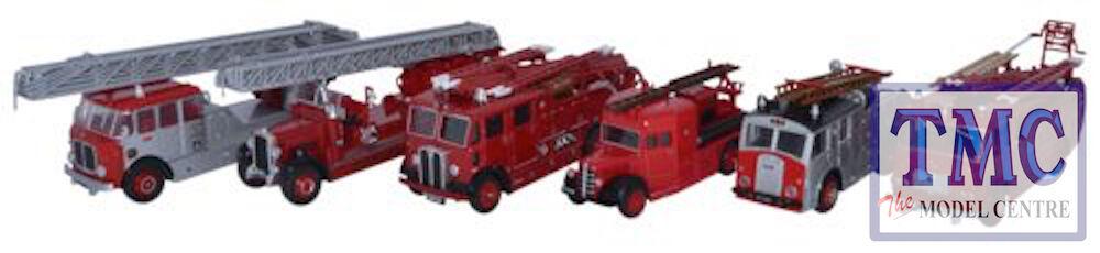 76SET31 Oxford tärningskast OO Gage 6 Bit Set 150 År av London Fire Appliance.
