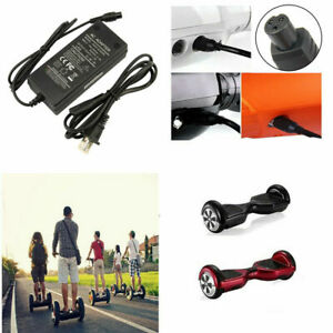 UK Plug FAST Charger Power Adapter For Segway//Swegway//Hoverboard Balance Board