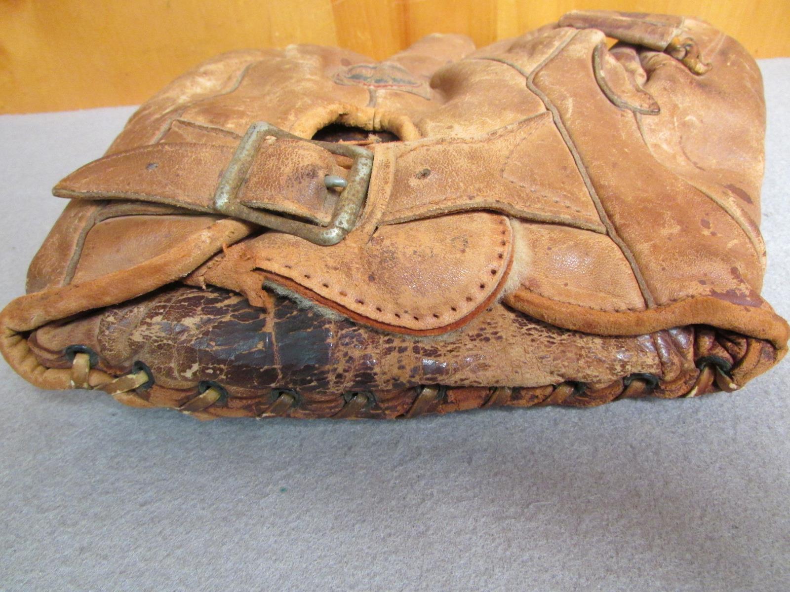 Vintage 1930s American Eagle Leder Baseball Handschuh Schnalle Schnalle Schnalle Rücken Modell 50 dbcdb6