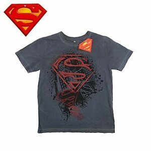 Boys-Superman-T-Shirt-Size-7-8-10-or-12