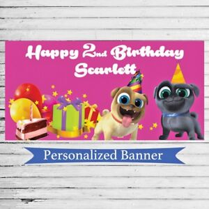 Details About 18 X30 Puppy Dog Pals Custom Party Banner Personalized Birthday Party Decor